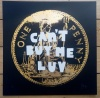 ''Can't buy me luv'' screenprint with gold leaf by Quiet British Accent