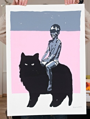 ''Wish You Were Here'' screenprint by Marcelina Amelia