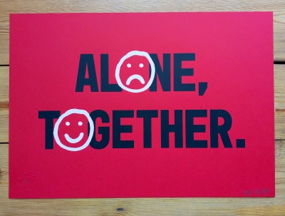''Alone Together'' limited edition screenprint by Alex Bucklee