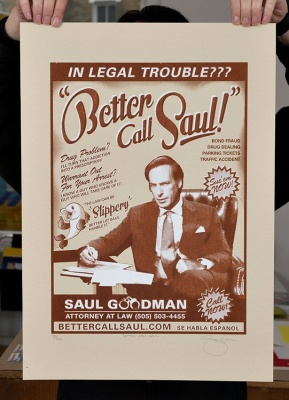 ''Better Call Saul'' screenprint by Barry D Bulsara