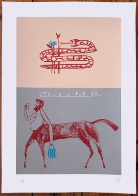 ''Stella'' limited edition screenprint by David Bray