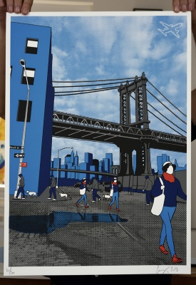 ''Brooklyn'' limited edition screenprint by Gerry Buxton