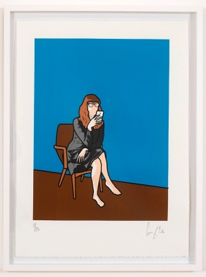 ''Lotta texting'' limited edition screenprint by Gerry Buxton