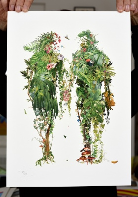''A couple's walk'' limited edition print by Rosco Brittin