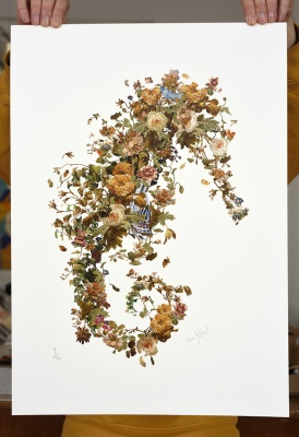 ''Beautiful Trash'' hand glossed giclée print by Rosco Brittin
