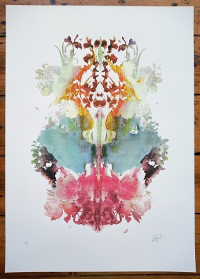 ''Rorschach 1'' limited edition screenprint by Rosco Brittin