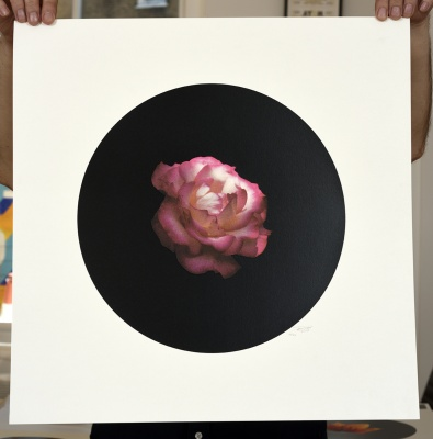''Rose 1'' limited edition screenprint by Ricky Byrne