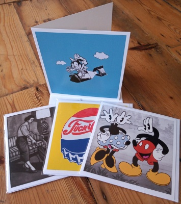 Pack of four square mixed greetings cards