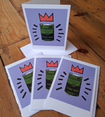 Pack of four ''Three Bean Soup'' greetings cards