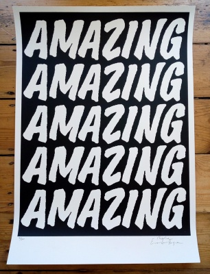 ''Amazing (Black)'' limited edition screenprint by Charlie Evaristo-Boyce