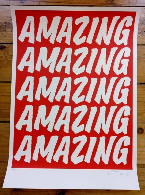 ''Amazing (Red)'' limited edition screenprint by Charlie Evaristo-Boyce