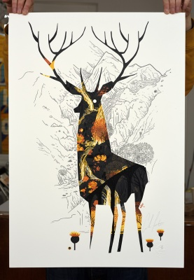 ''KIng of the Highlands'' limited edition screenprint by Graham Carter