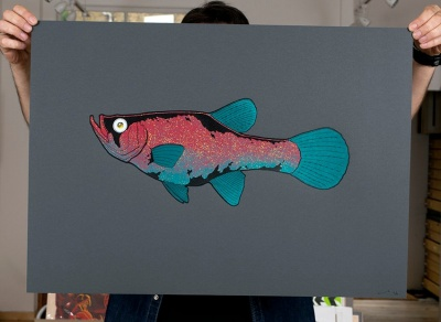 ''Guppy'' limited edition screenprint by Louis Craig Carpenter