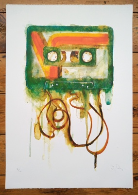 ''Cassette'' limited edition screenprint by Gavin Dobson