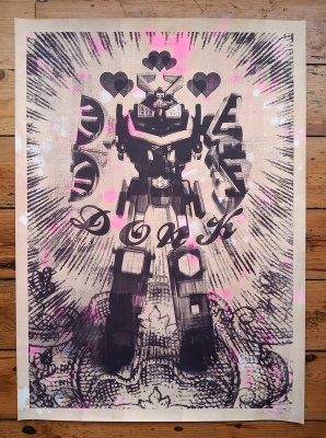 ''The False Idol'' limited edition screenprint by Donk