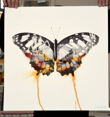 ''Graffiti Butterfly'' limited edition screenprint by Donk