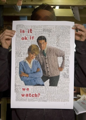 ''Is it okay if we watch?'' print by Dr D / Subvertiser