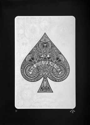 ''Ace of Spades'' limited edition screenprint by 57 Design