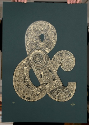 ''Ampersand'' limited edition screenprint by 57 Design