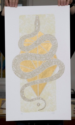 ''Diamondhead Serpent'' limited edition screenprint by 57 Design