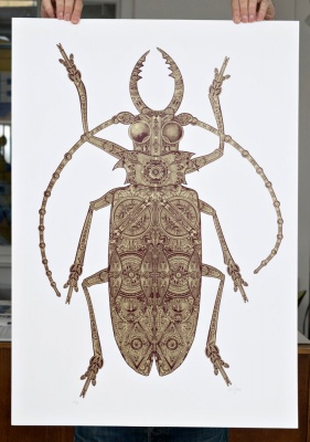 ''The Golden Beetle'' limited edition screenprint by 57 Design