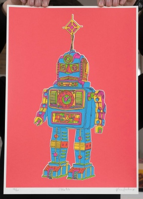 ''Little Rob'' limited edition screenprint by Oli Fowler