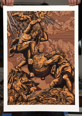 ''The 13th Labour'' limited edition screenprint by Daniel Hosego