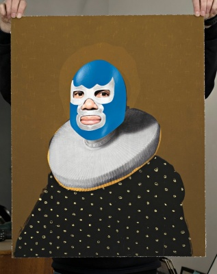 ''Blue Devil'' limited edition print by Heath Kane