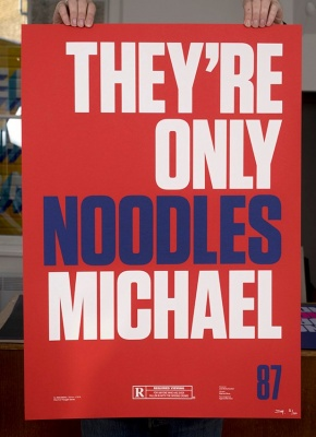 ''They're only noodles'' limited edition screenprint by Inkcandy