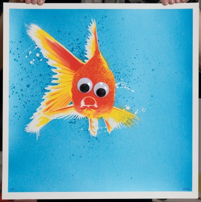 ''Blinky'' limited edition screenprint by JBoy