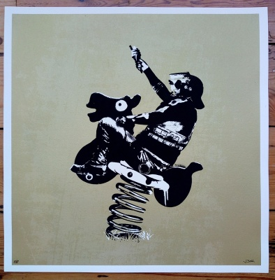 ''Fun Police (Gold)'' limited edition screenprint by JBoy
