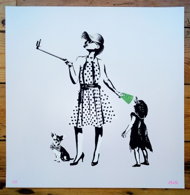''Selfie'' limited edition screenprint by JBoy