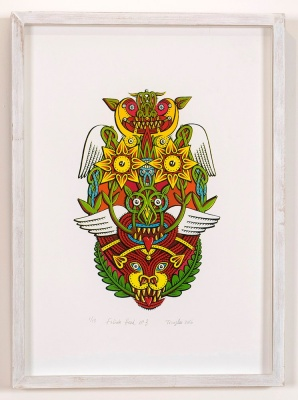 ''Foliate Head 3'' limited edition screenprint by Tony Lee