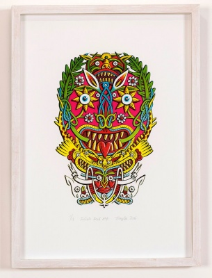 ''Foliate Head 4'' limited edition screenprint by Tony Lee
