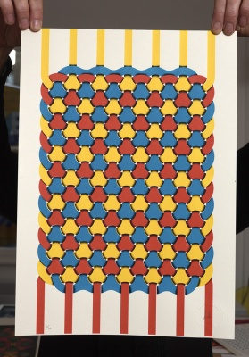 ''Weave'' limited edition screenprint by Guillem Matallanas