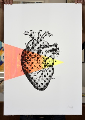 ''Loving Dots'' limited edition screenprint by Montez Makes