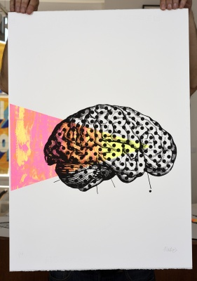 ''Thinking Dots'' limited edition screenprint by Montez Makes