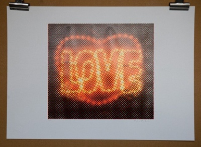 ''Love (Black)'' limited edition screenprint by Paula MacArthur