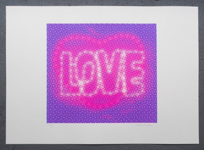 ''Love (Purple)'' limited edition screenprint by Paula MacArthur