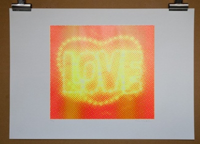 ''Love (Yellow)'' limited edition screenprint by Paula MacArthur