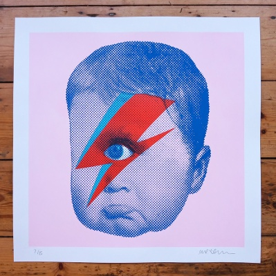 ''Baby Cyclops Bowie'' limited edition screenprint by Mister Edwards