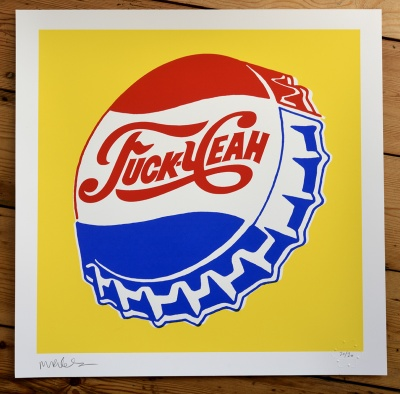 ''Fuck Yeah'' limited edition screenprint by Mr Edwards