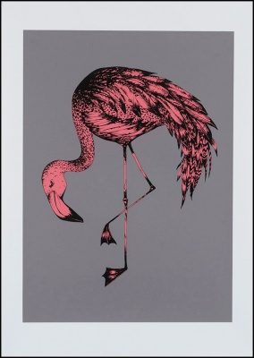 ''Flamingo (Pink)'' limited edition screenprint by Emily Newson
