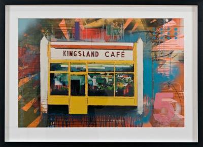 ''Kingsland Cafe'' limited edition giclée print by Danny Pockets