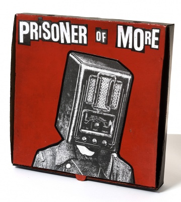 ''Prisoner of More'' custom pizza box by Benjamin Irritant