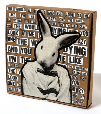 ''The Crazy One'' custom pizza box by Benjamin Irritant