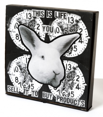 ''This is Life...'' custom pizza box by Benjamin Irritant