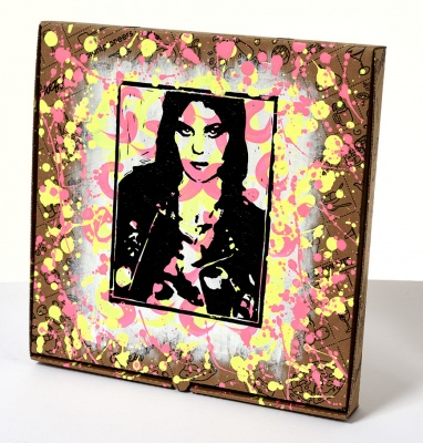 ''Joan Jett - Vegan For Life'' custom pizza box by Emma Harvey