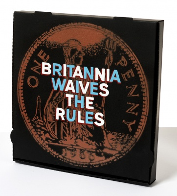 ''Britannia Waives The Rules'' custom pizza box by Quiet British Accent