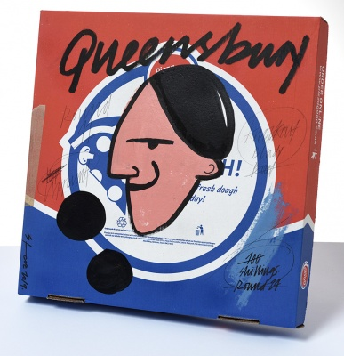 ''Queensbury Rules'' custom pizza box by Stephen Anthony Davids